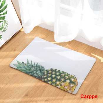 2017 New Home Decor Plant Cactus Pineapple Leaves Carpets Non-slip Kitchen Rugs for Home Living Room Floor Mats 40X60 50X80cm