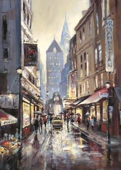 Kapalı Broadway Brent Heighton of Yüksek kalite yağlıboya Üreme sanat on canvas El boyalı Romantik Sanat Paris Manzara