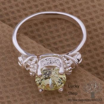 AR084 925 sterling silver ring, 925 silver fashion jewelry, elegant yellow stone /blwakdda fjoaoava