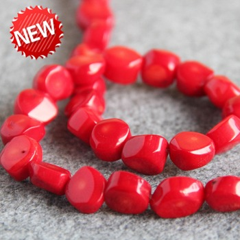 Accessory Crafts Necklace Bracelet 8x12mm Irregular Red Coral Beads Loose DIY Beads Stones Balls Gifts 15inch Jewelry Making