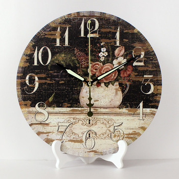 Wholesale 12'' Pastpral style bedroom decor table watch more quiet home decor desktop clock fashion wedding room decoration gift
