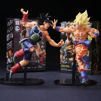 Action Figure Dragon Ball Z Son Goku Heykelcik Dragon Ball süper Saiyan Veteta Gohan Baba ve Oğul Savaş Durumu Dramatik Model