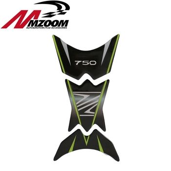 3d Carbon Fiber Reflective Decal Emblem oil Tank Stickers Sticker Cap Tank Protector Tank Pad for Kawasaki z750